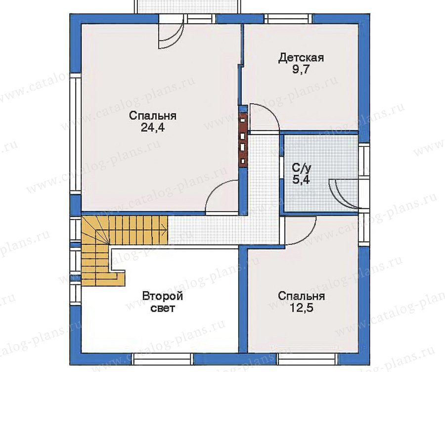 План 2-этажа проекта 51-04
