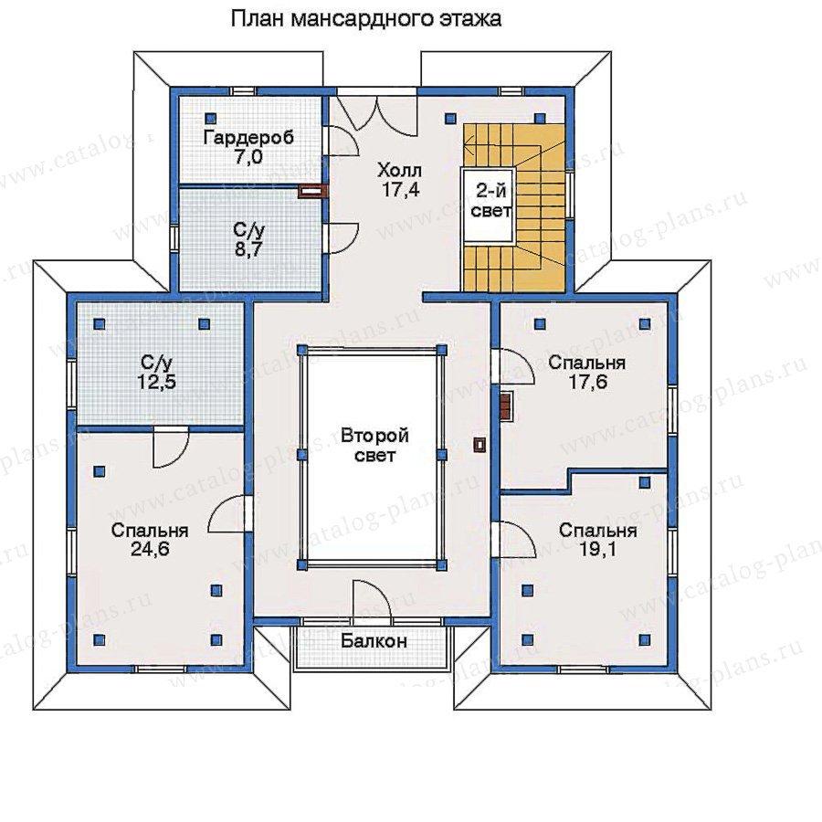 План 3-этажа проекта 51-16