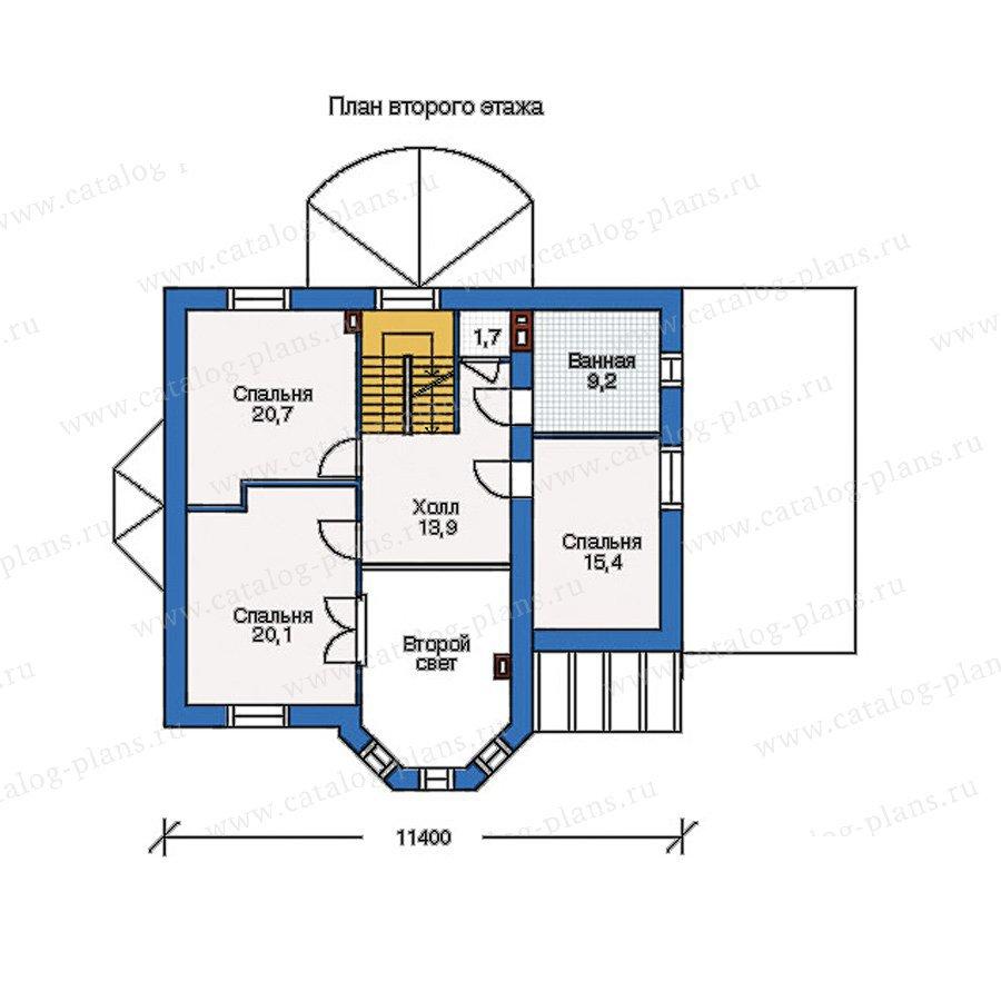 План 2-этажа проекта 50-70