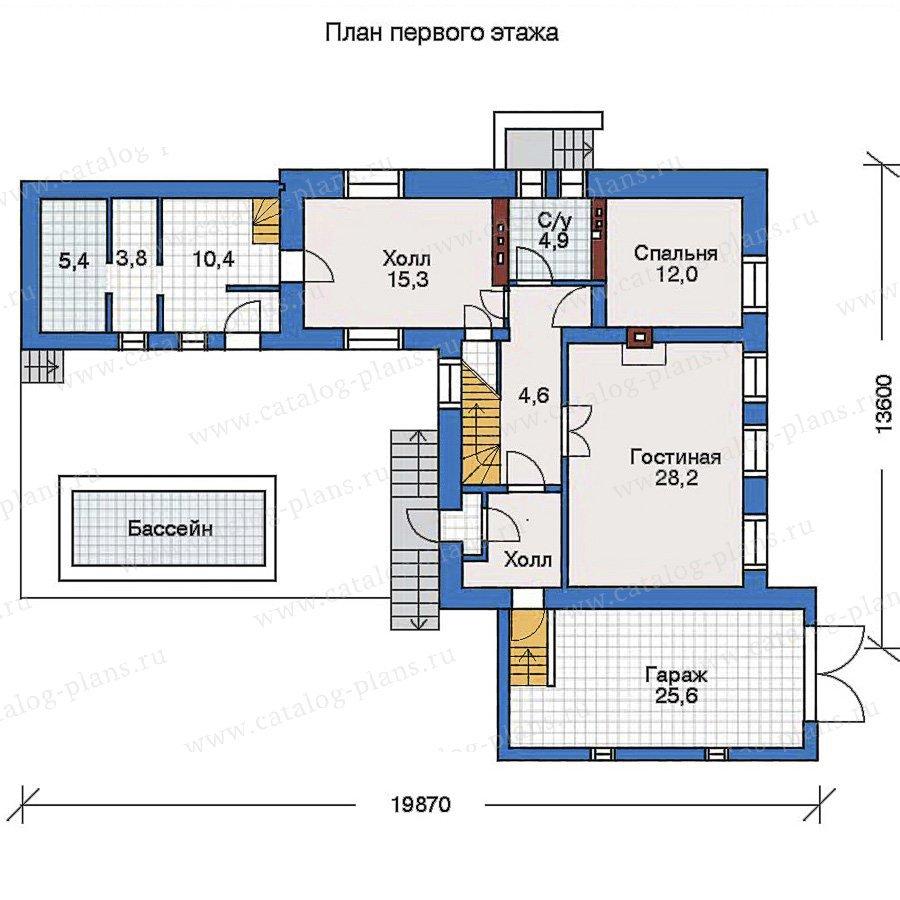 План 2-этажа проекта 50-91