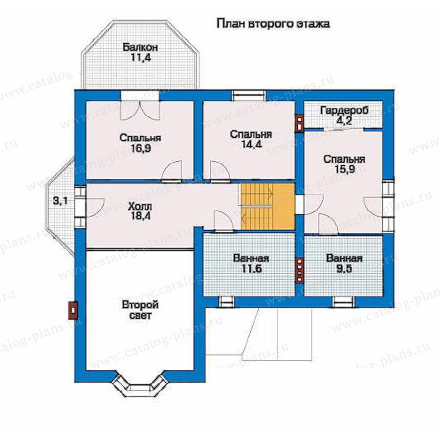 План 2-этажа проекта 51-10