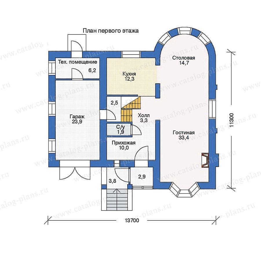 План 1-этажа проекта 51-27