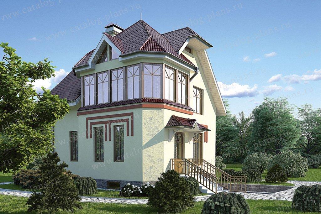 Проект жилой дом #51-42 материал - газобетон, стиль европейский