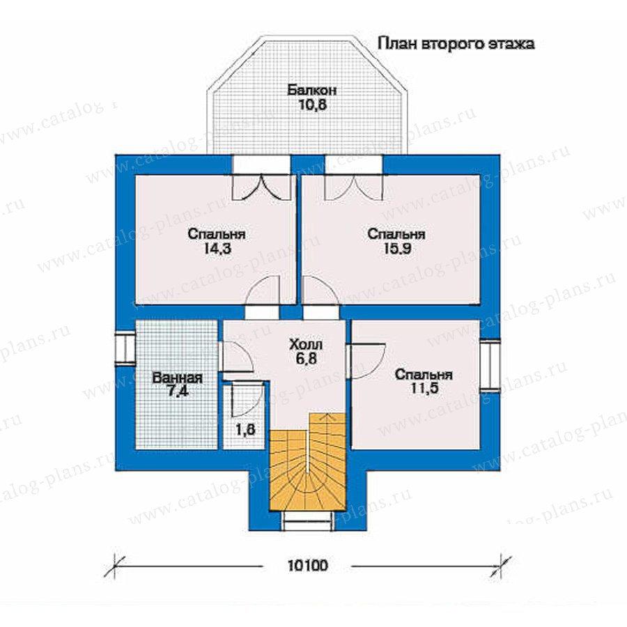 План 2-этажа проекта 51-71