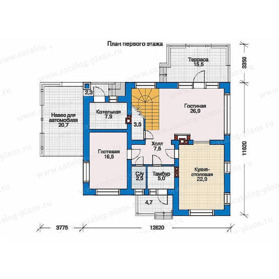 План 1-этажа проекта 51-86