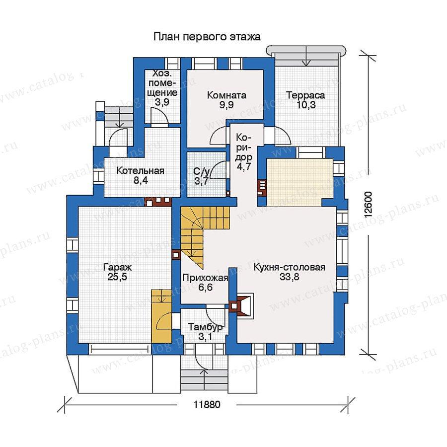 План 1-этажа проекта 51-70