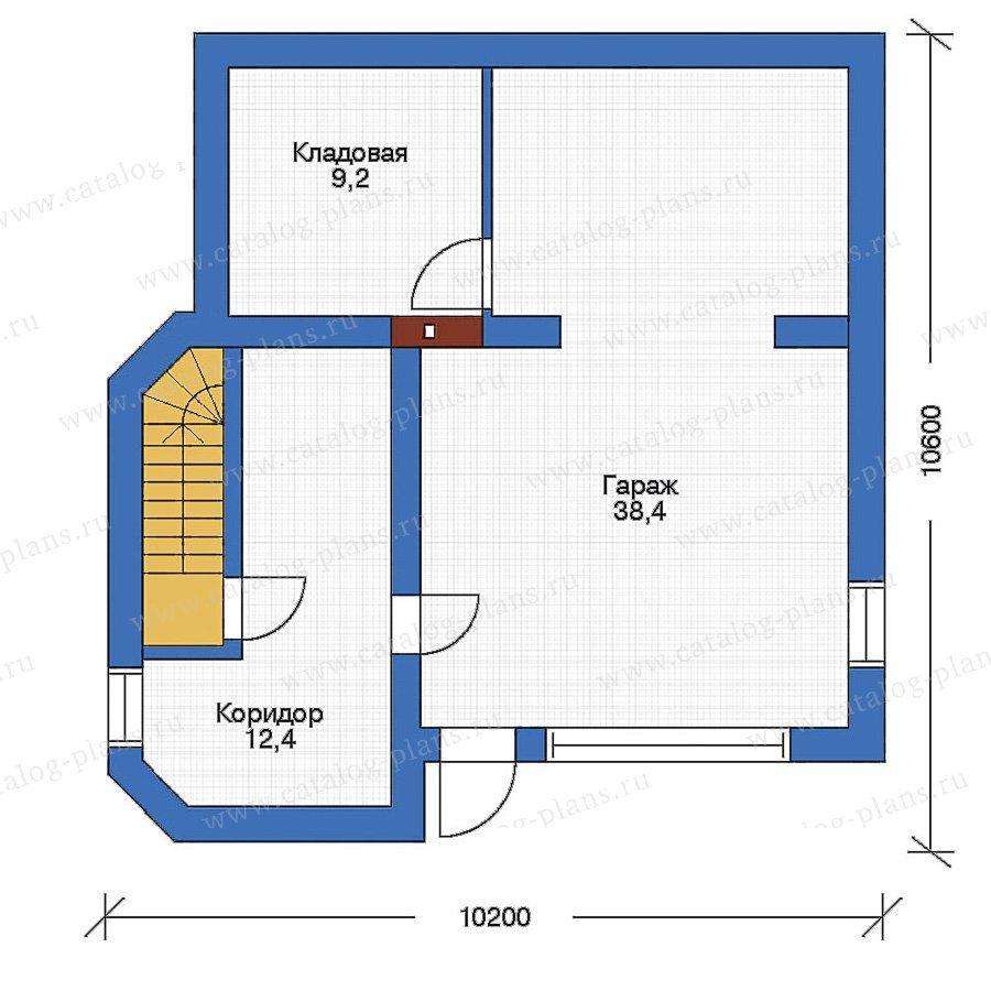 План 1-этажа проекта 51-42