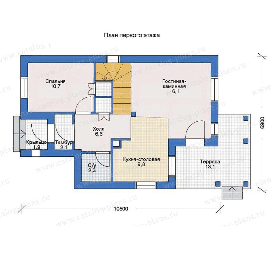 План 1-этажа проекта 51-50
