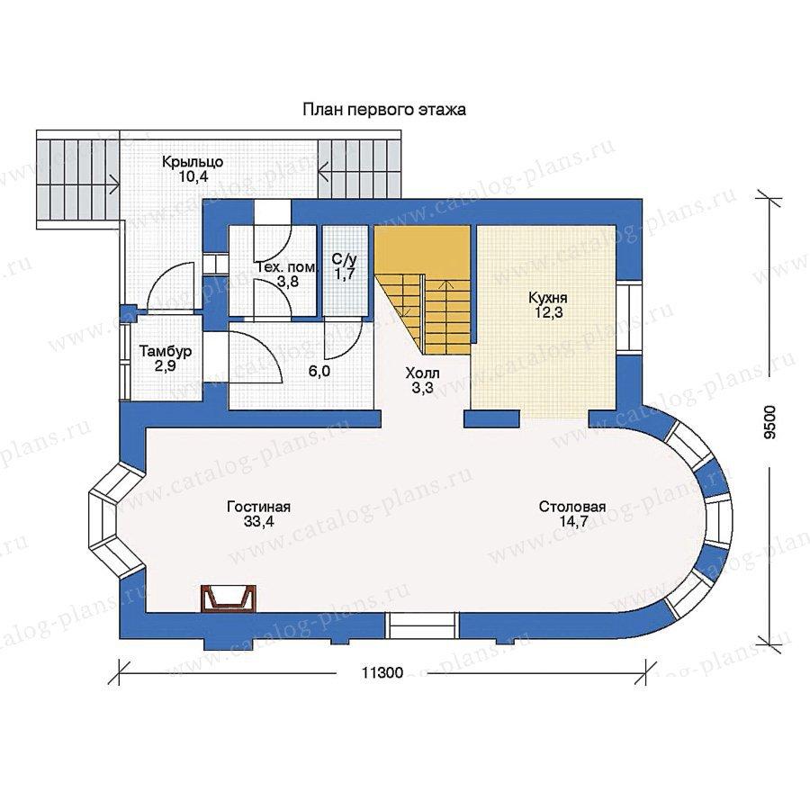 План 1-этажа проекта 51-29