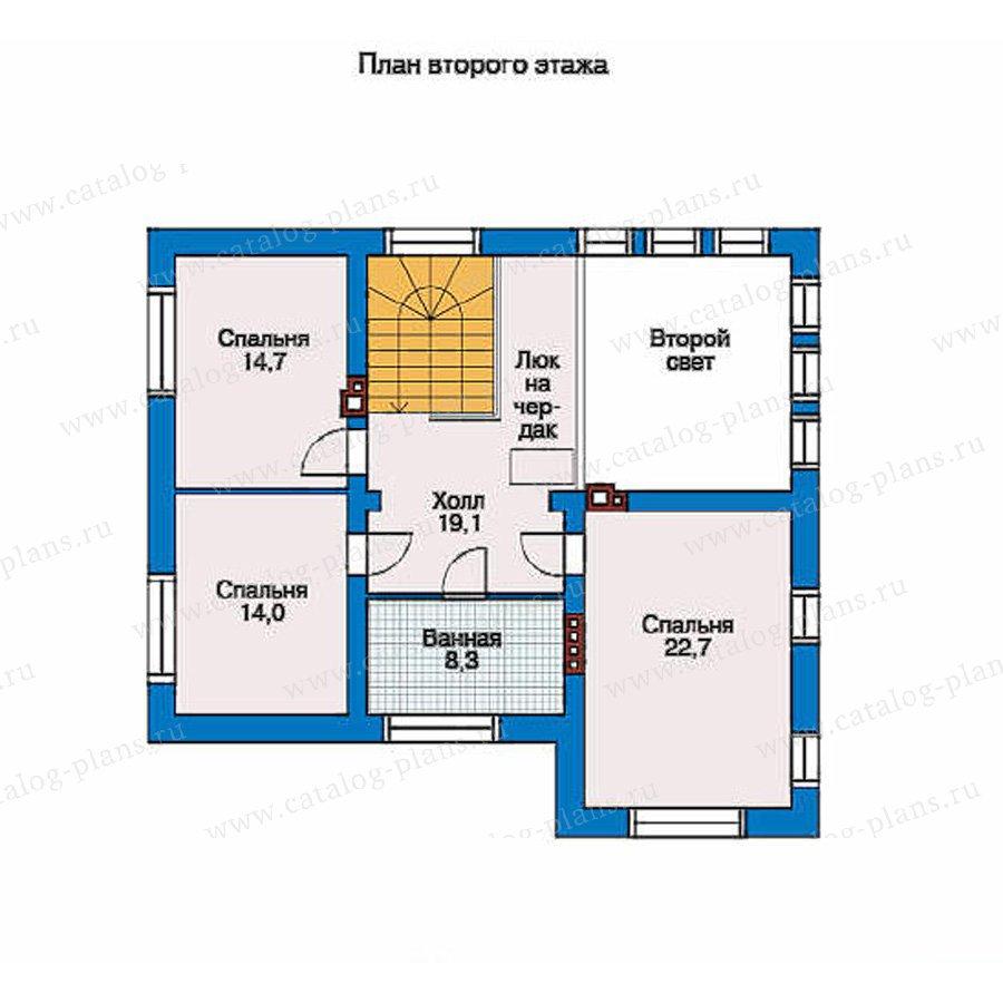 План 2-этажа проекта 51-86