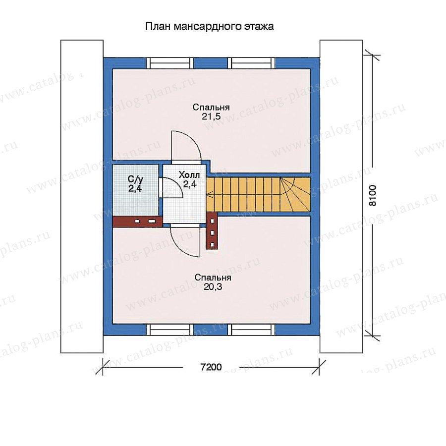 План 2-этажа проекта 51-54