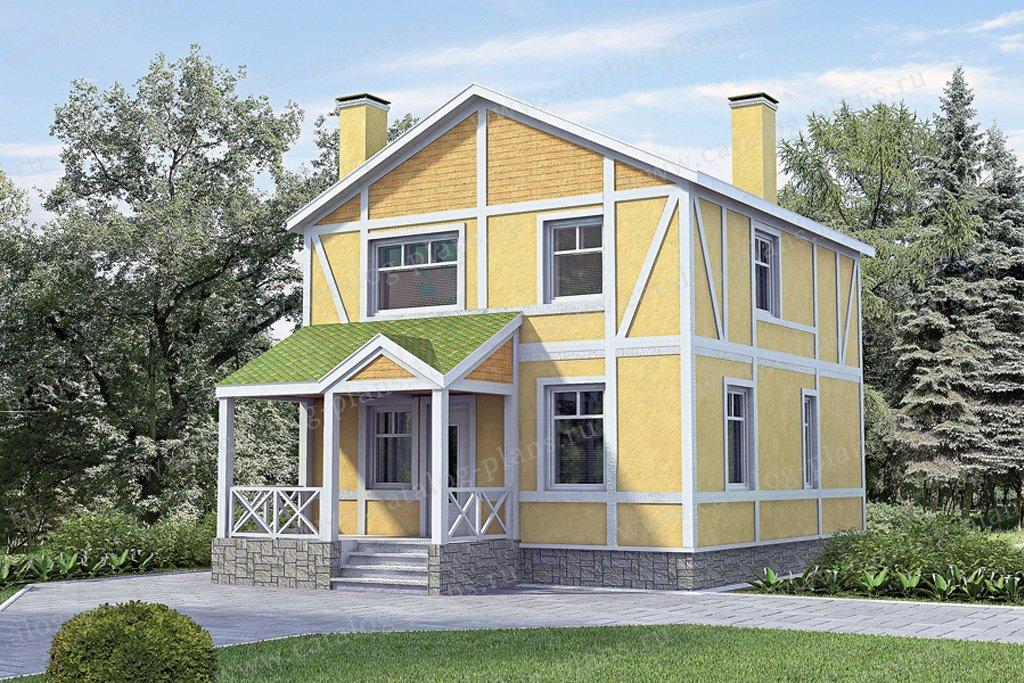 Проект жилой дом #51-51 материал - газобетон, стиль фахверк
