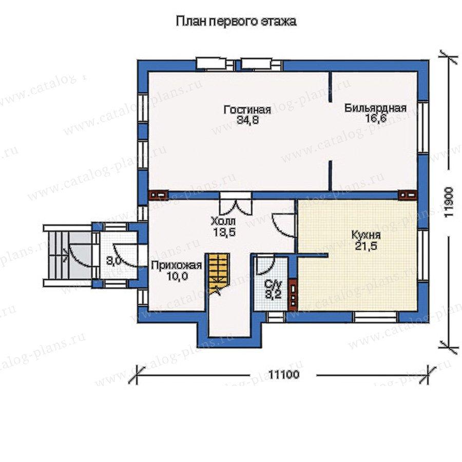 План 1-этажа проекта 51-45