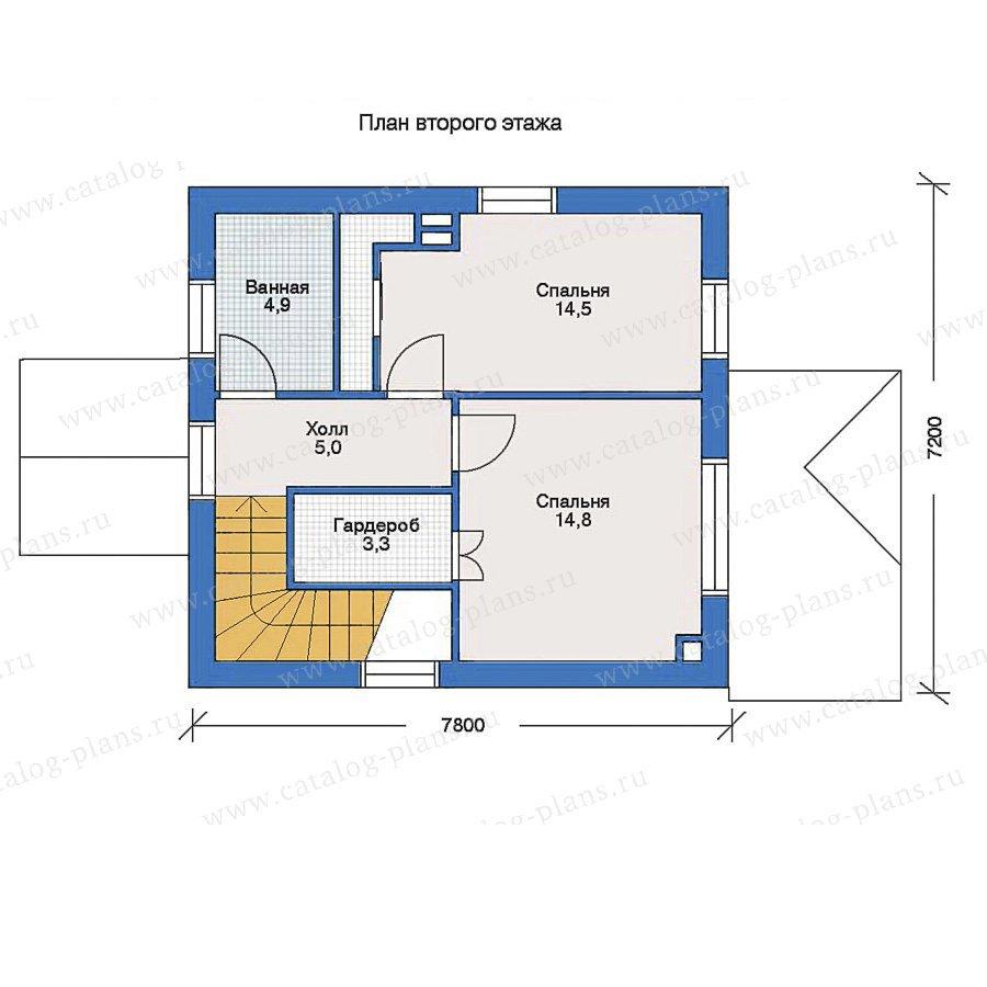 План 2-этажа проекта 51-51