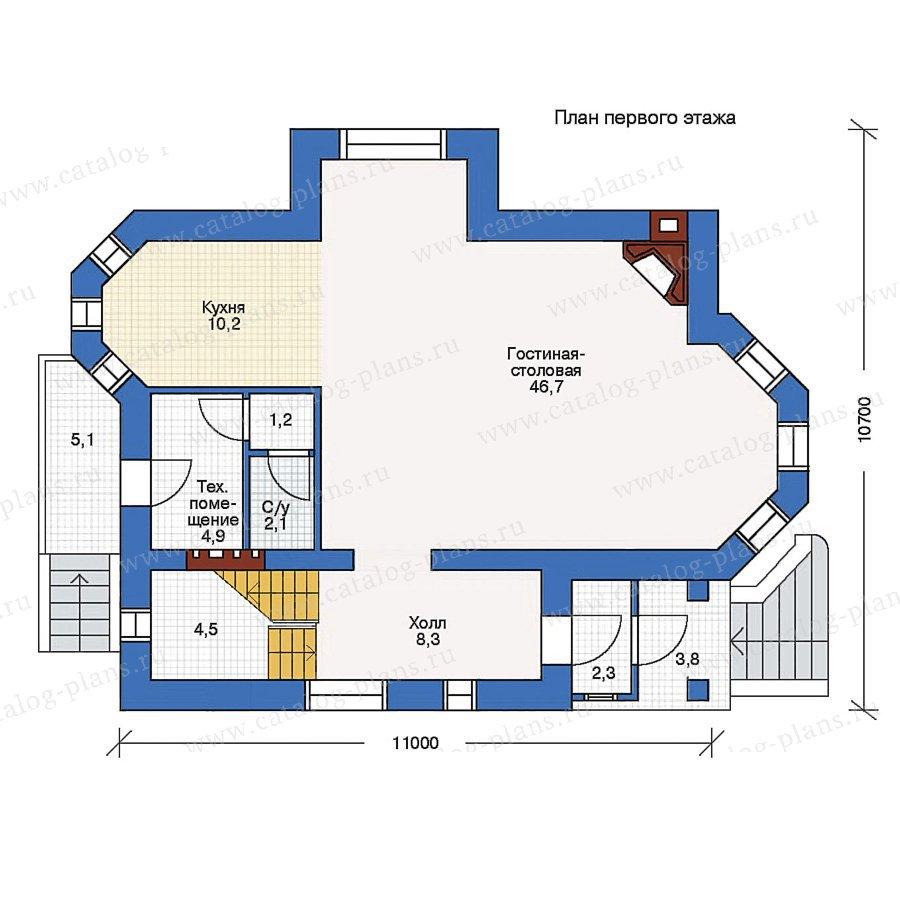 План 1-этажа проекта 51-28