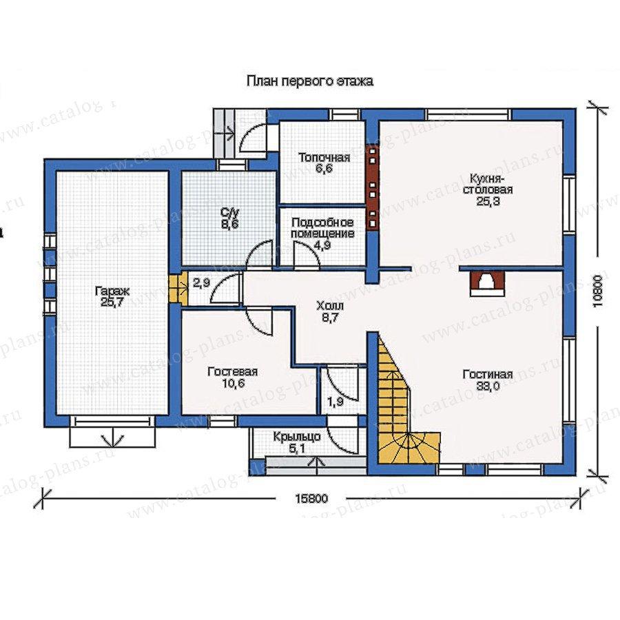План 1-этажа проекта 51-32