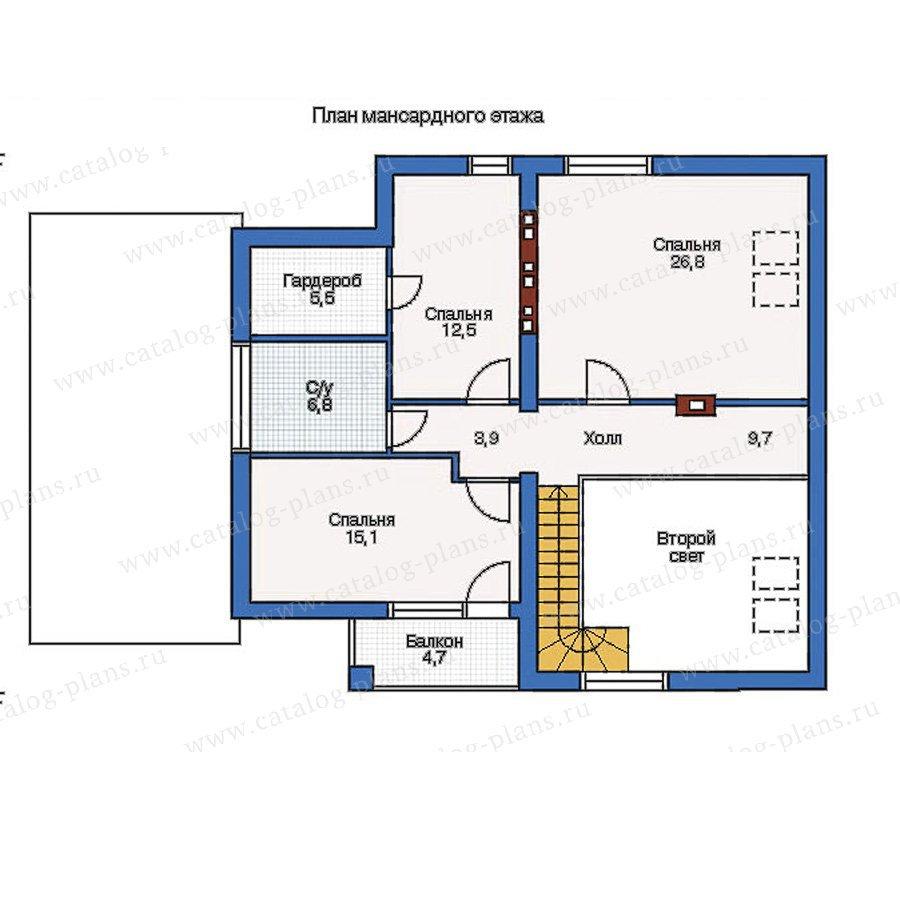 План 2-этажа проекта 51-32