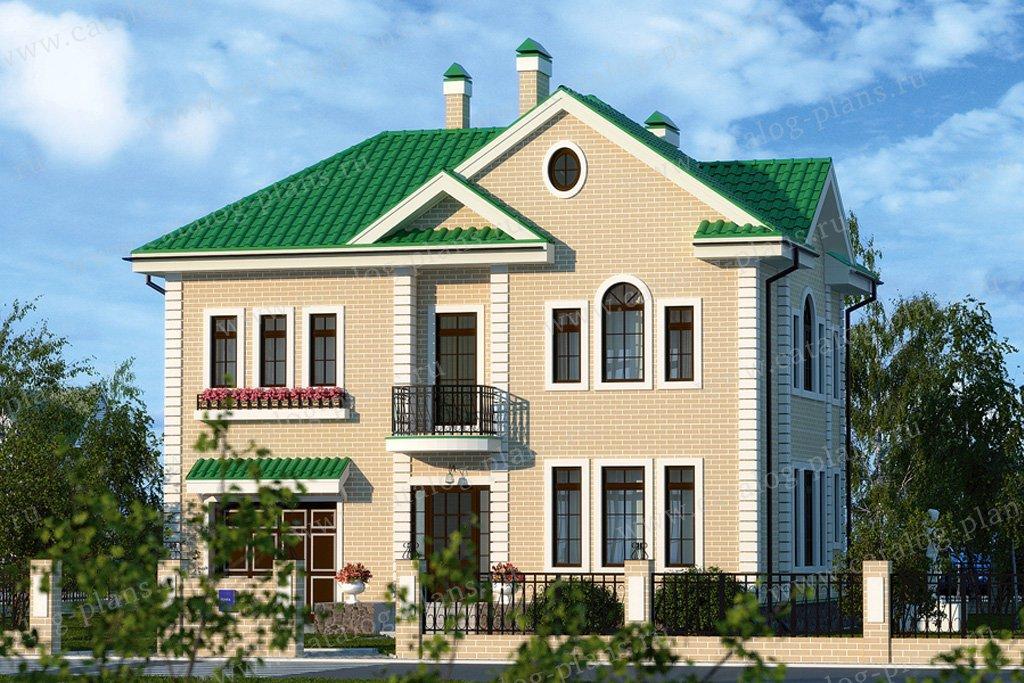 Проект жилой дом #51-70 материал - газобетон, стиль европейский