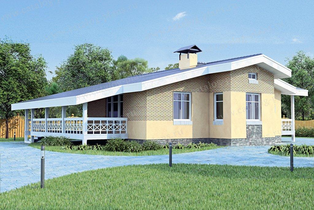 Проект жилой дом #51-62 материал - кирпич, стиль современный