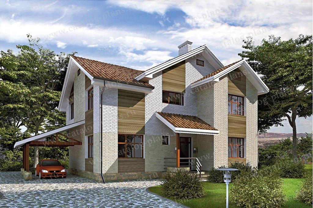 Проект жилой дом #51-86 материал - газобетон, стиль скандинавский