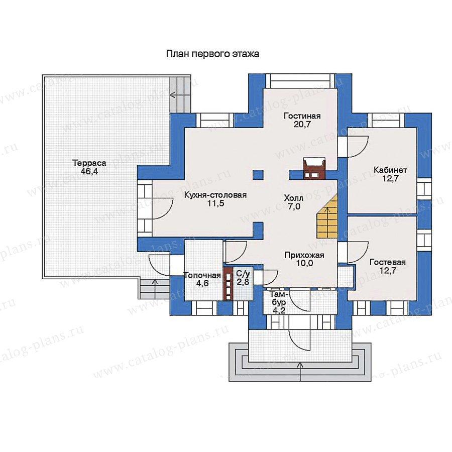 План 1-этажа проекта 51-68