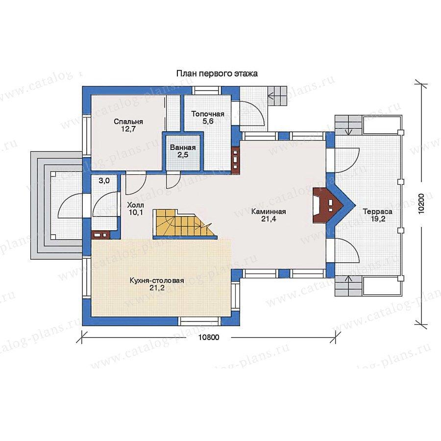 План 1-этажа проекта 51-63