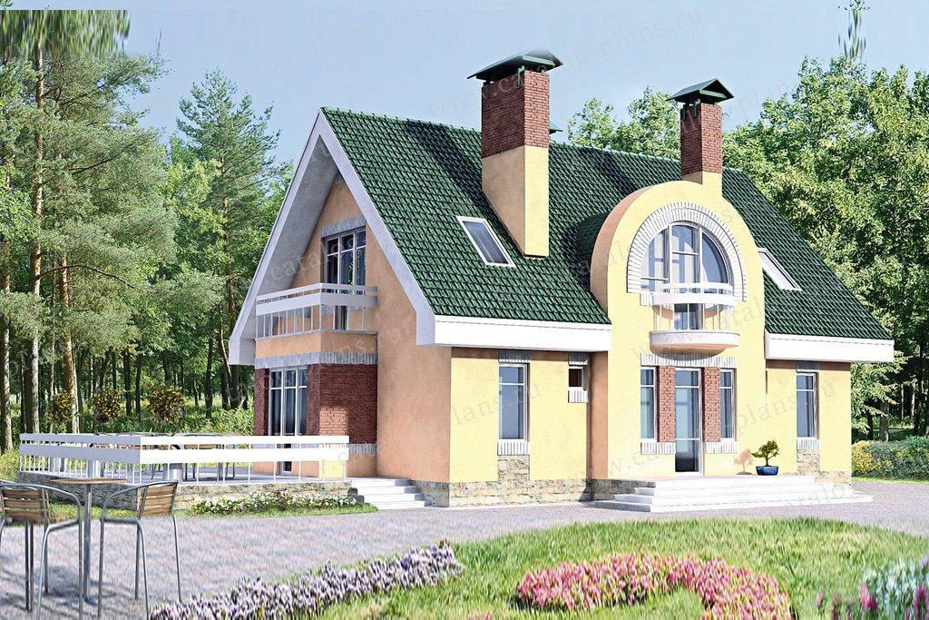 Проект жилой дом #51-68 материал - кирпич, стиль современный