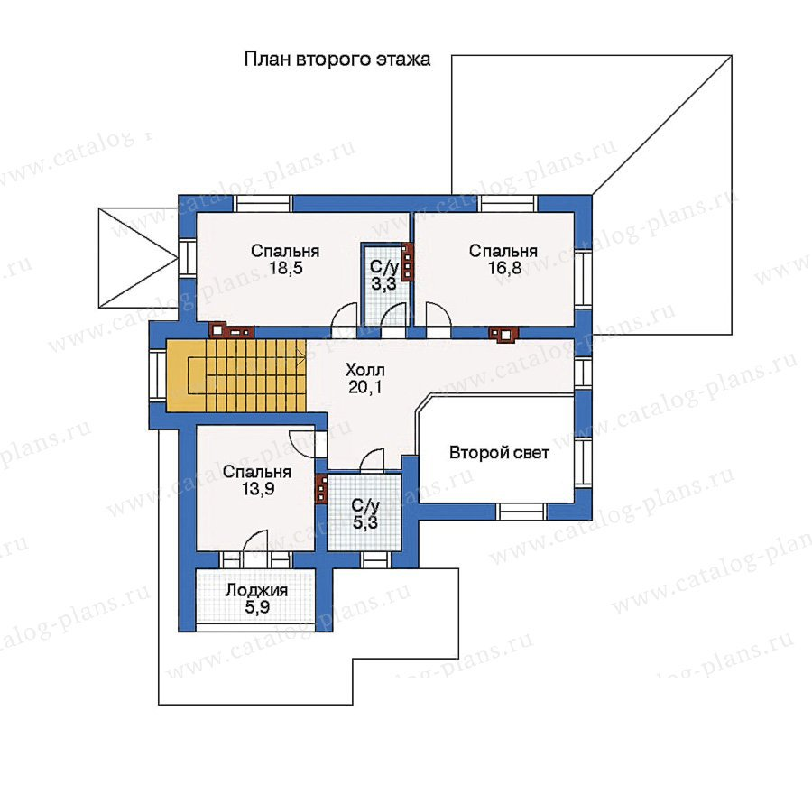 План 2-этажа проекта 51-72
