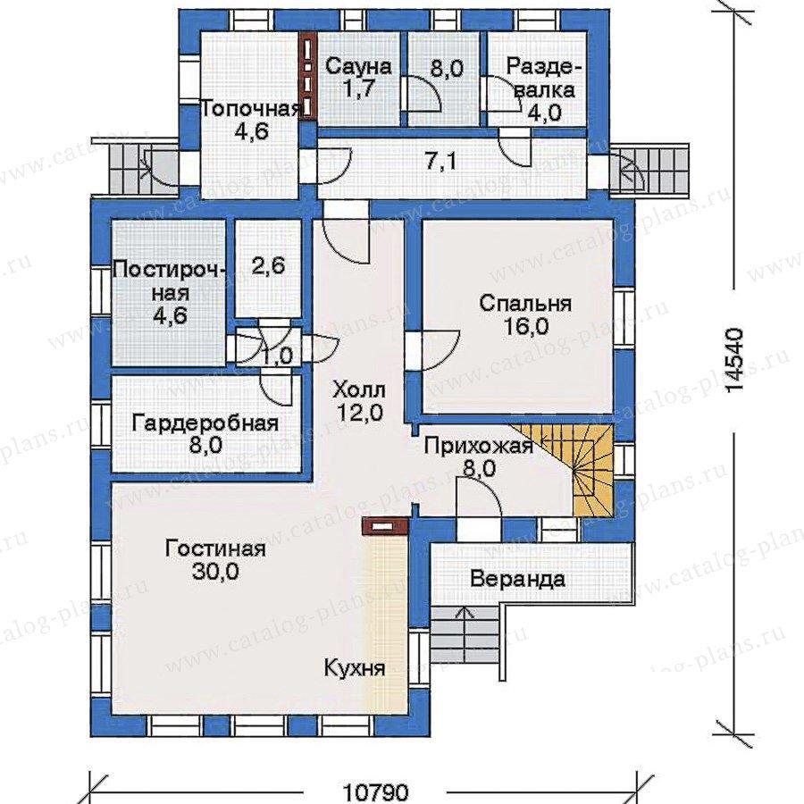 План 1-этажа проекта 51-55