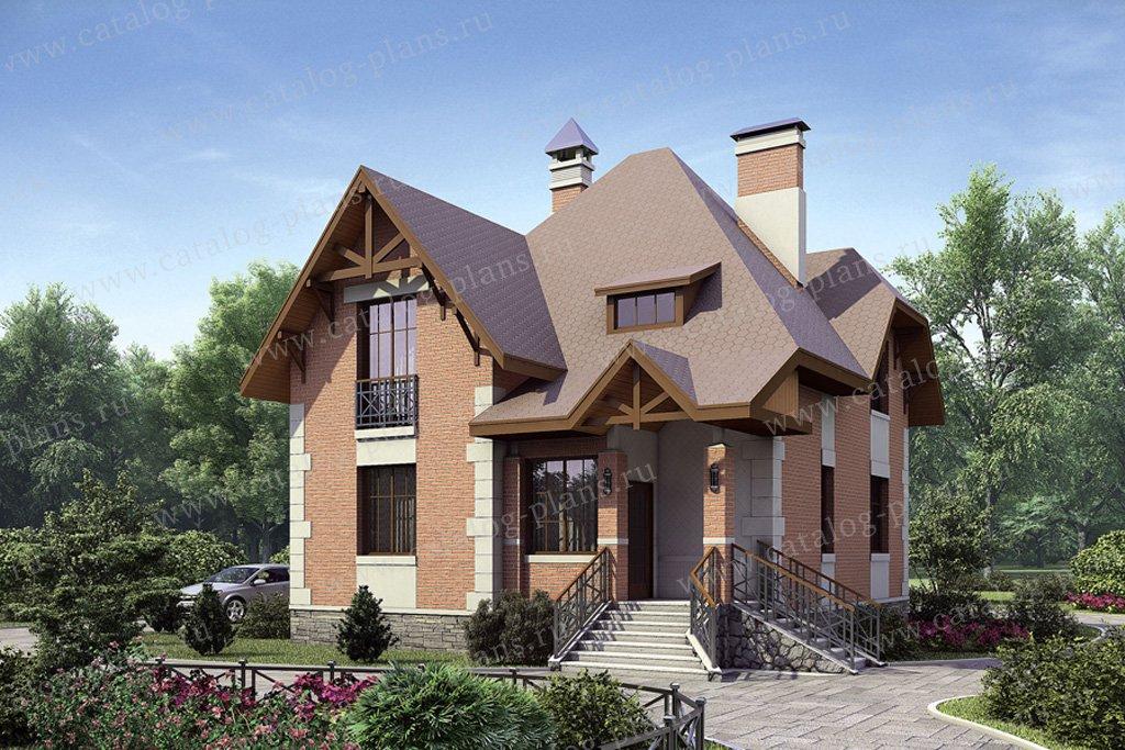 Проект жилой дом #51-92 материал - газобетон, стиль европейский