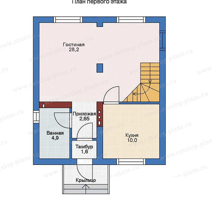 План 1-этажа проекта 51-54