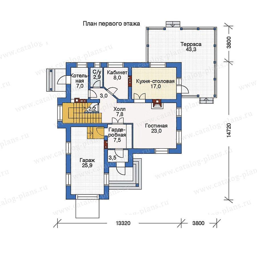 План 1-этажа проекта 51-72