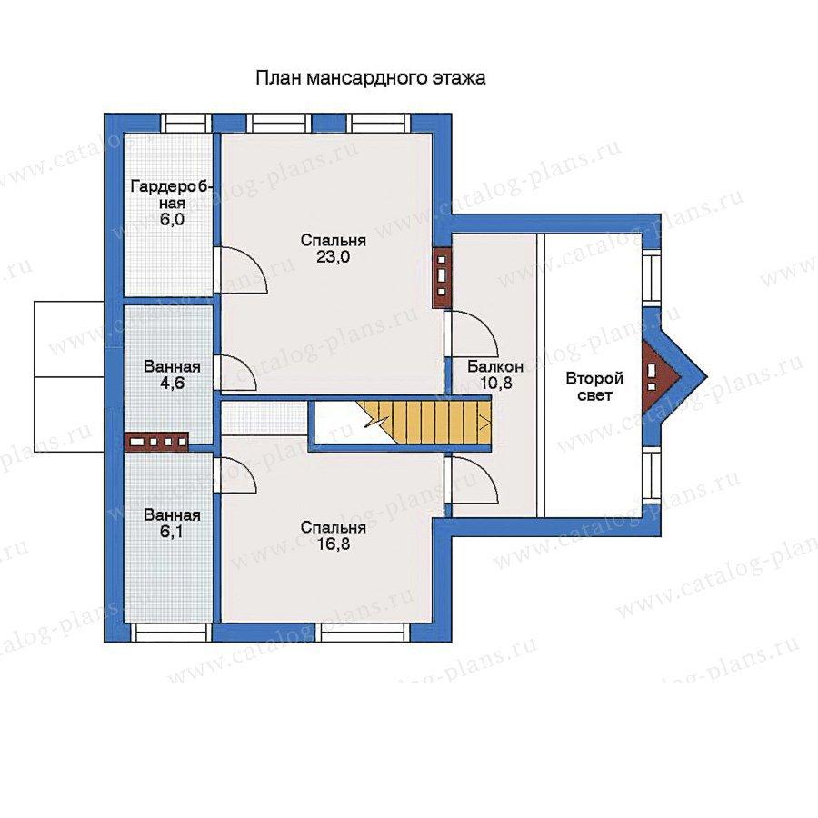 План 2-этажа проекта 51-63