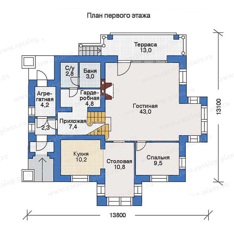 План 1-этажа проекта 51-96
