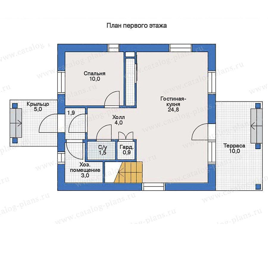 План 1-этажа проекта 51-51
