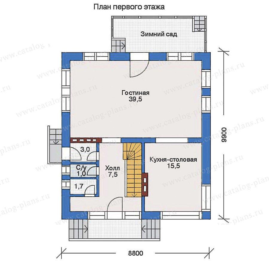 План 1-этажа проекта 51-53