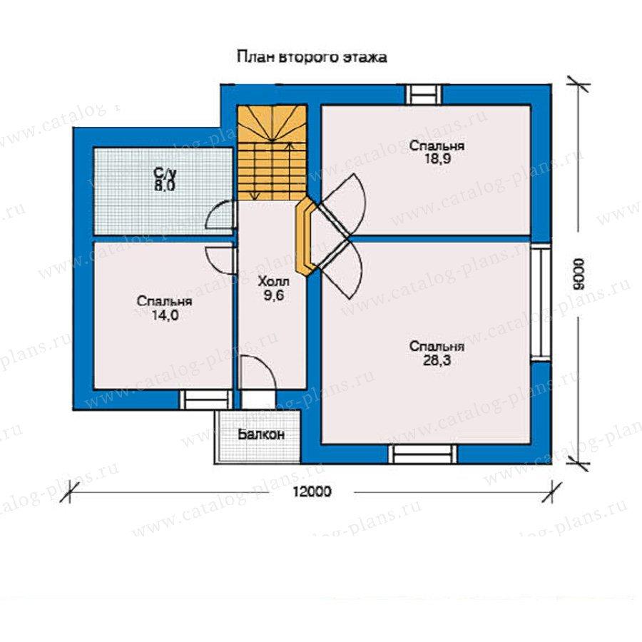 План 2-этажа проекта 51-48