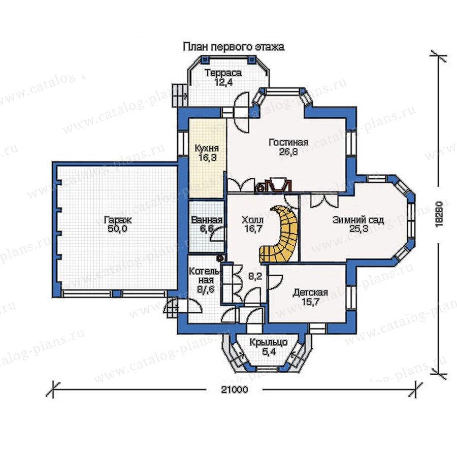 План 1-этажа проекта 51-31