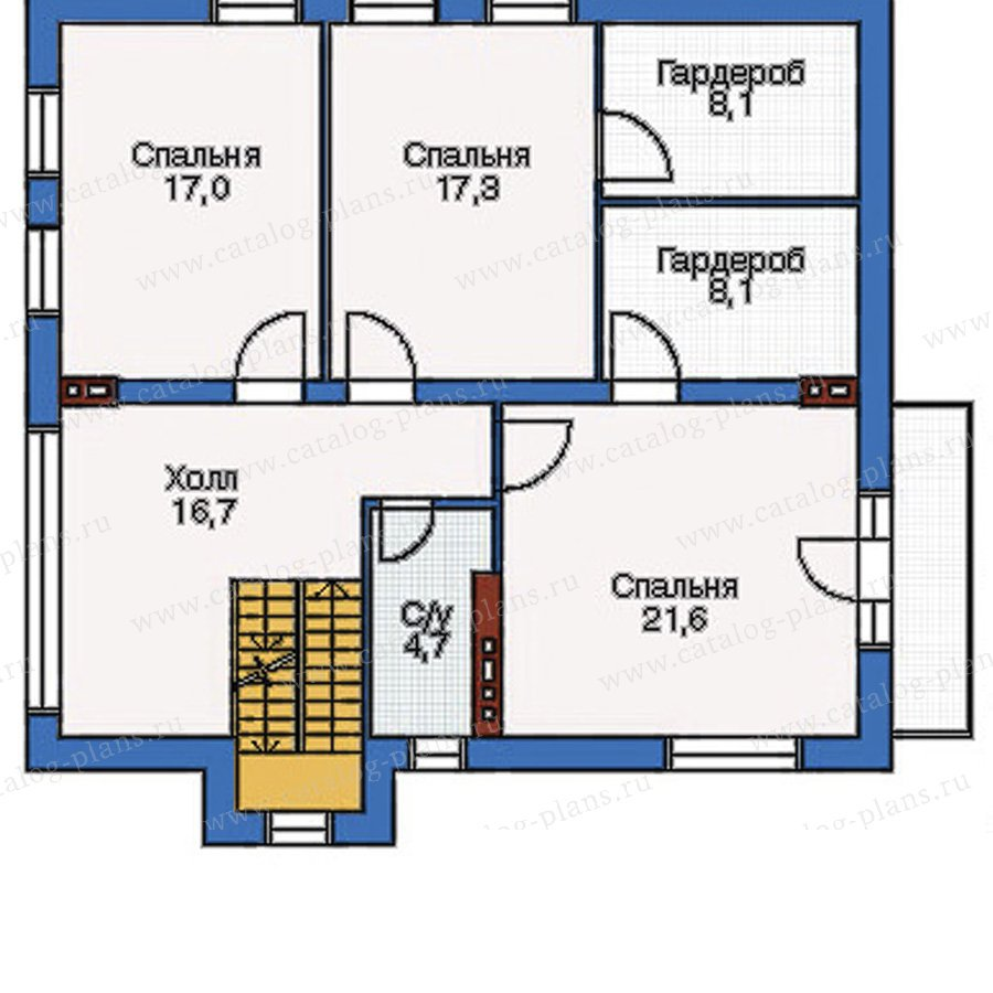 План 2-этажа проекта 51-45