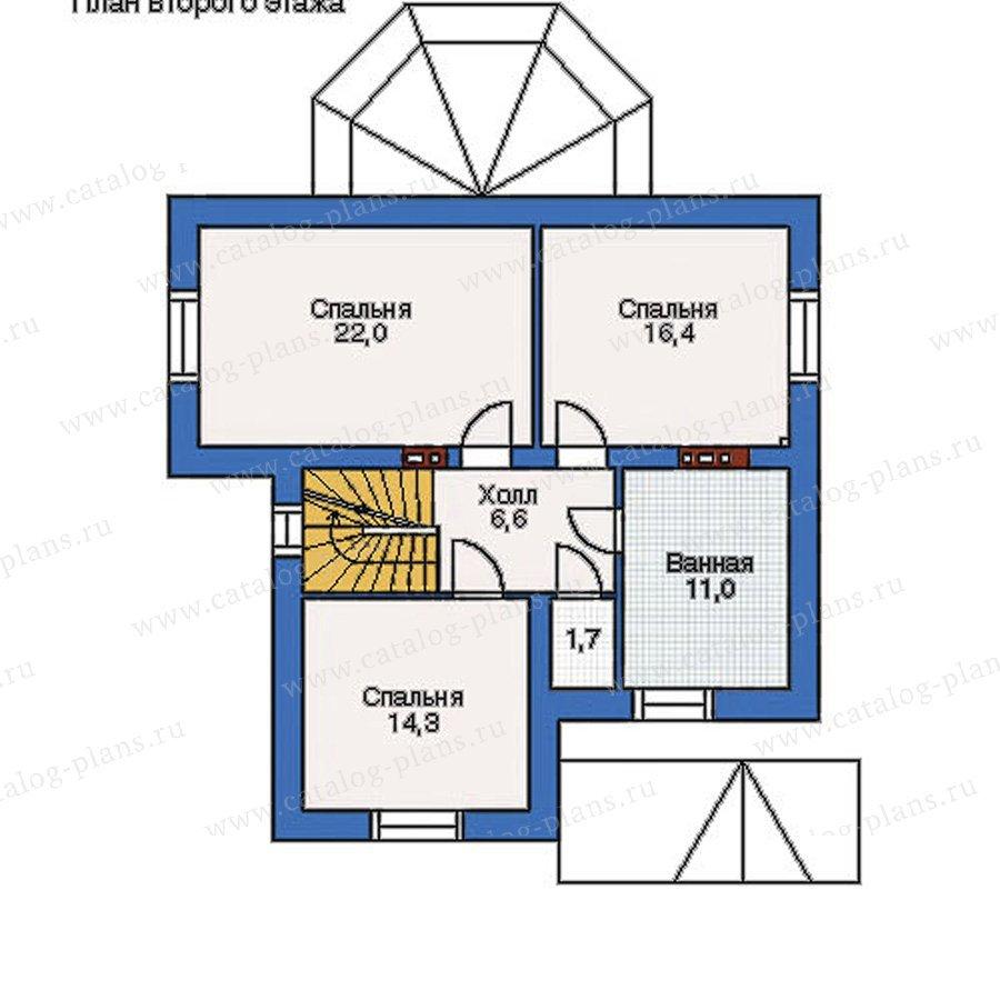 План 2-этажа проекта 51-92