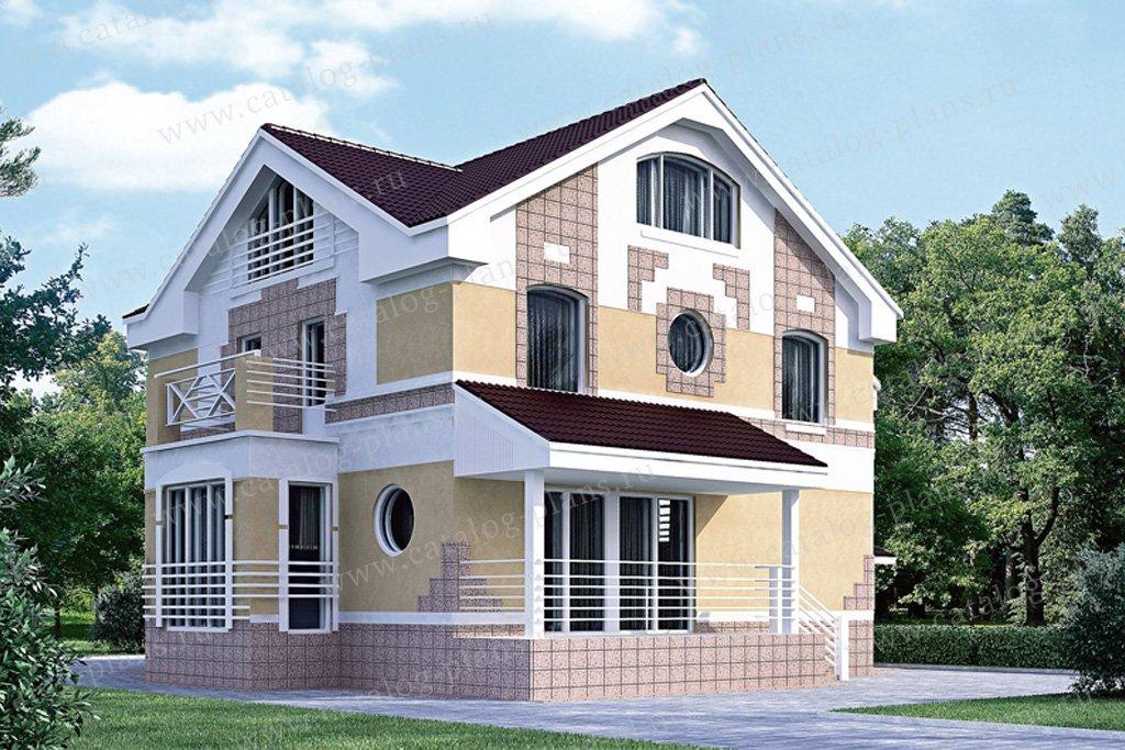 Проект жилой дом #51-96 материал - газобетон, стиль европейский
