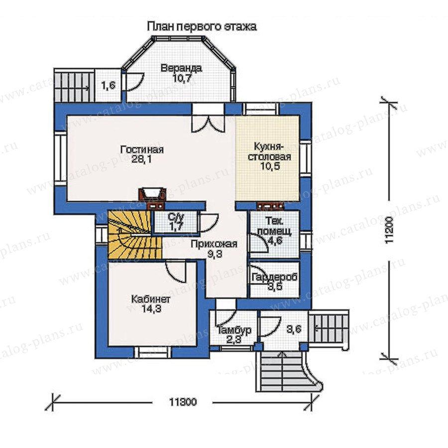 План 1-этажа проекта 51-92