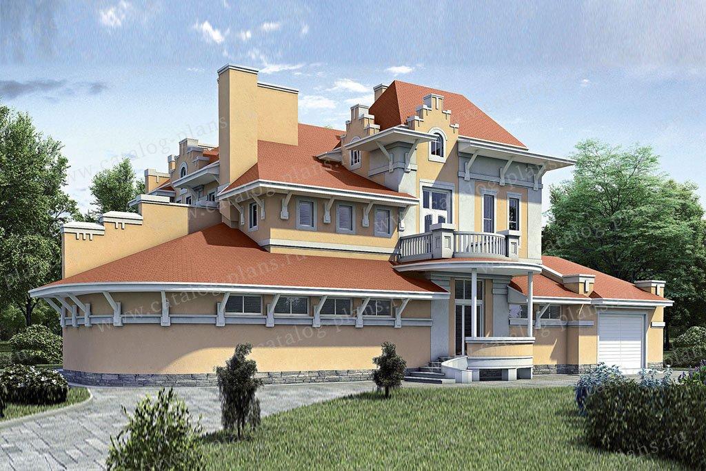 Проект жилой дом #52-25 материал - газобетон, стиль итальянский