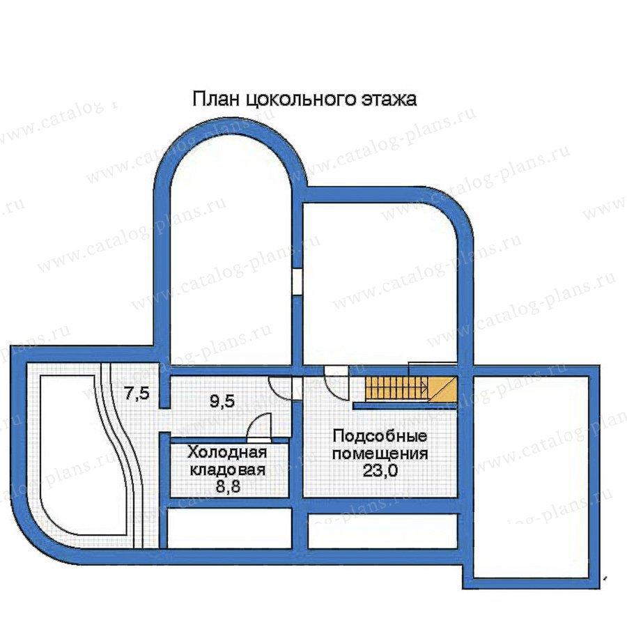 План 1-этажа проекта 52-13
