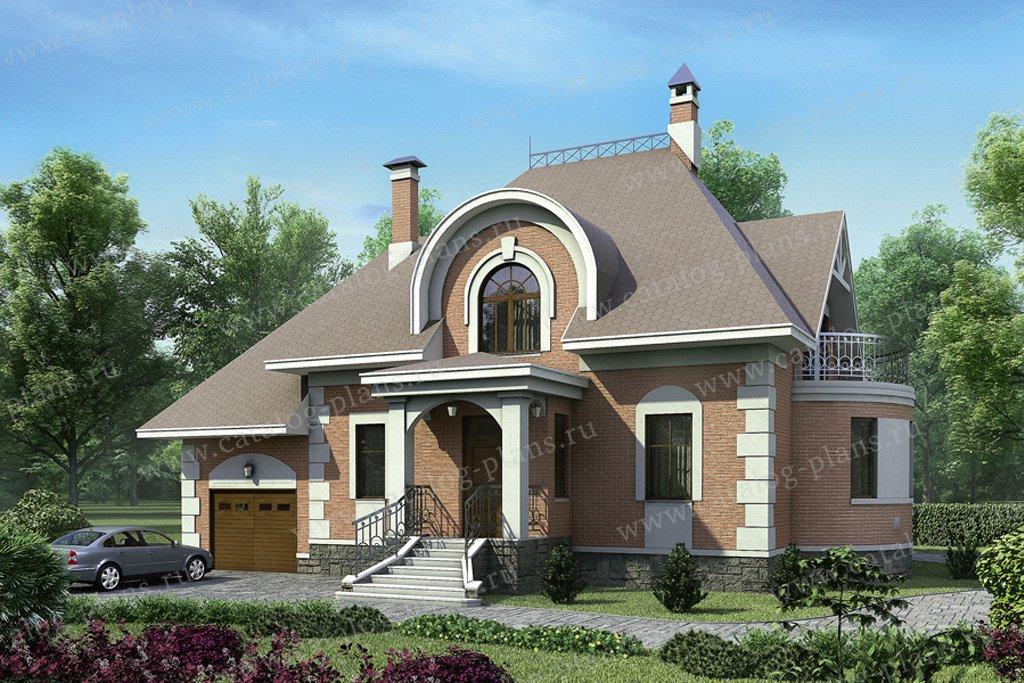 Проект жилой дом #52-63 материал - газобетон, стиль классический