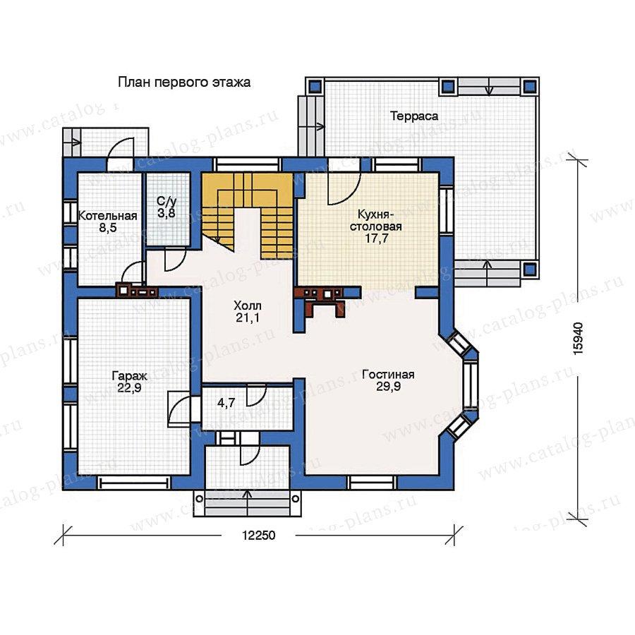 План 1-этажа проекта 52-05