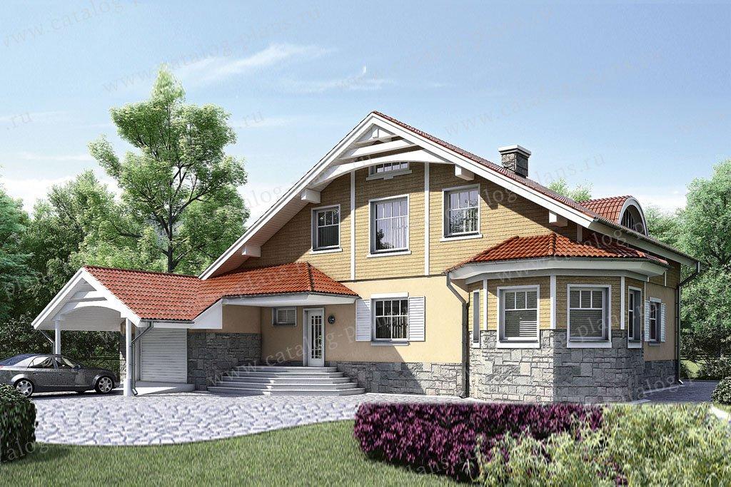 Проект жилой дом #52-21 материал - газобетон, стиль европейский