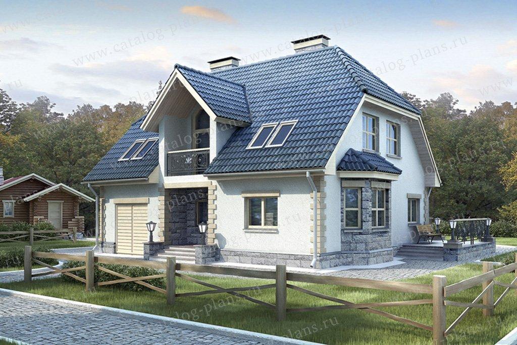 Проект жилой дом #52-05 материал - газобетон, стиль голландский