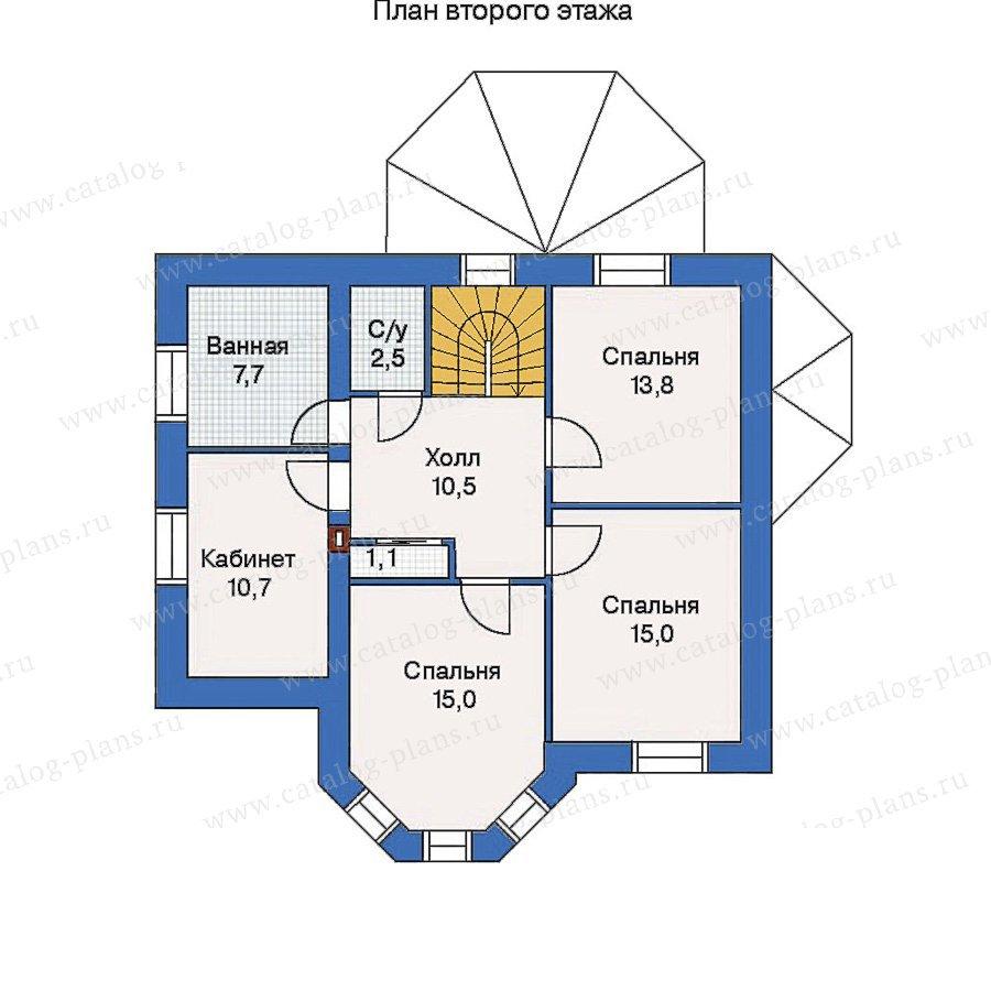 План 2-этажа проекта 52-09