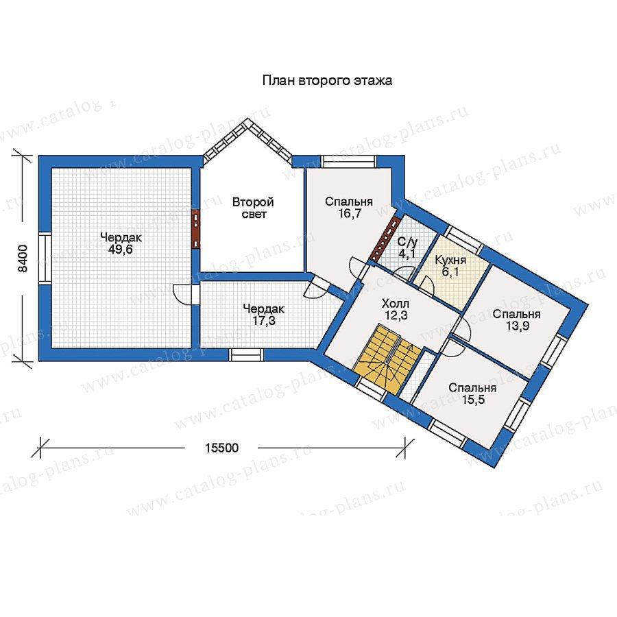План 2-этажа проекта 52-03